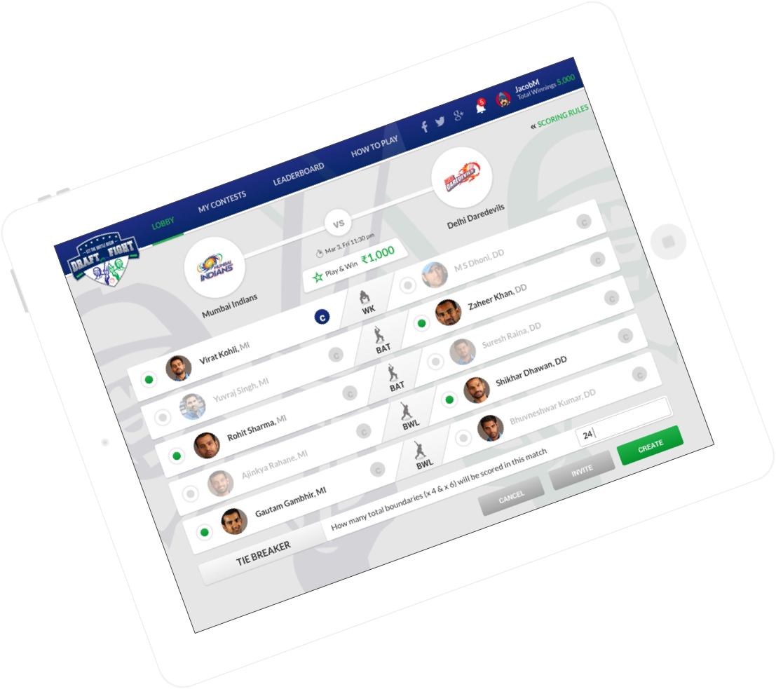 Fantasy sports app development for customer engagement by Vinfotech