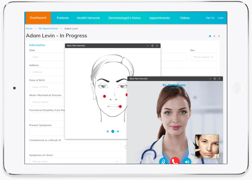 Customized Telehealth Website and App Development for Dermatologists by Vinfotech