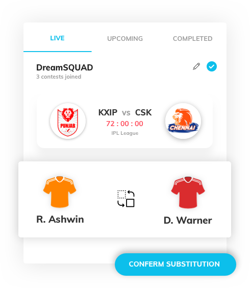 fantasy sports app development with in game substitution by Vinfotech