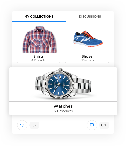 Social Commerce Software –Product Collections by Vinfotech