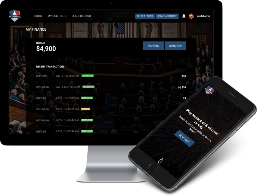 US Politics Fantasy Application by Vinfotech