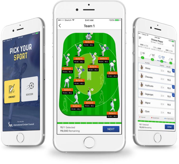 Spartan league fantasy football software developed by Vinfotech