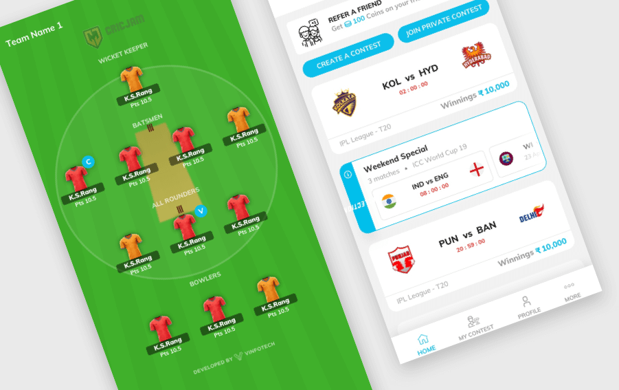 daily fantasy sports software by Vinfotech