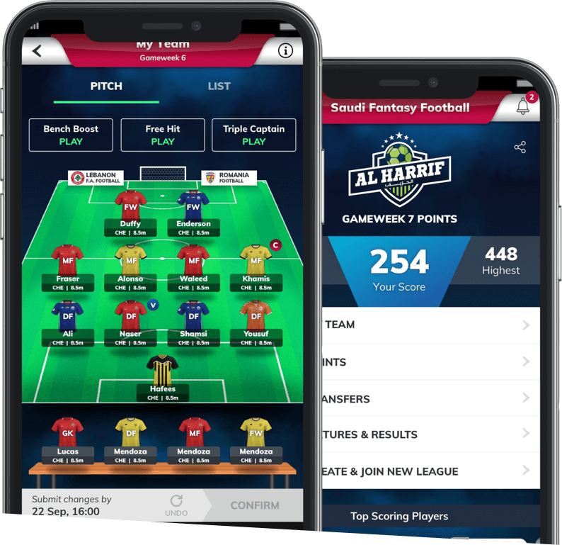 Al harrif- Season-long soccer fantasy development by Vinfotech