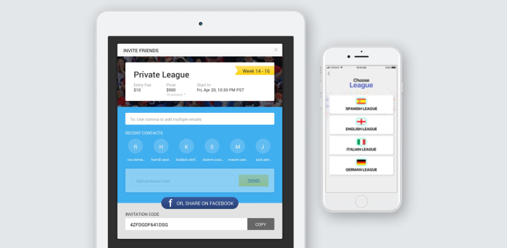 Feature Rich – White Label Daily Fantasy Sports Software Design and Development by Vinfotech