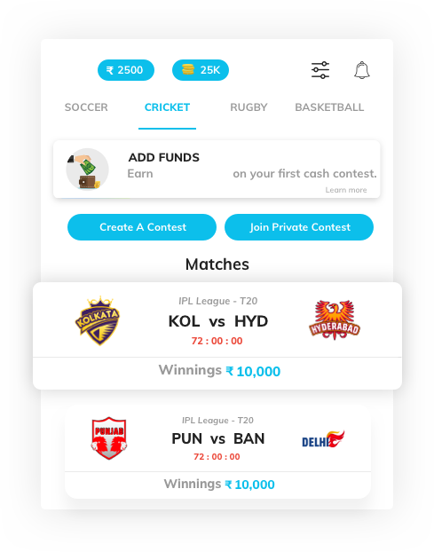 daily fantasy sports software with featured games by Vinfotech