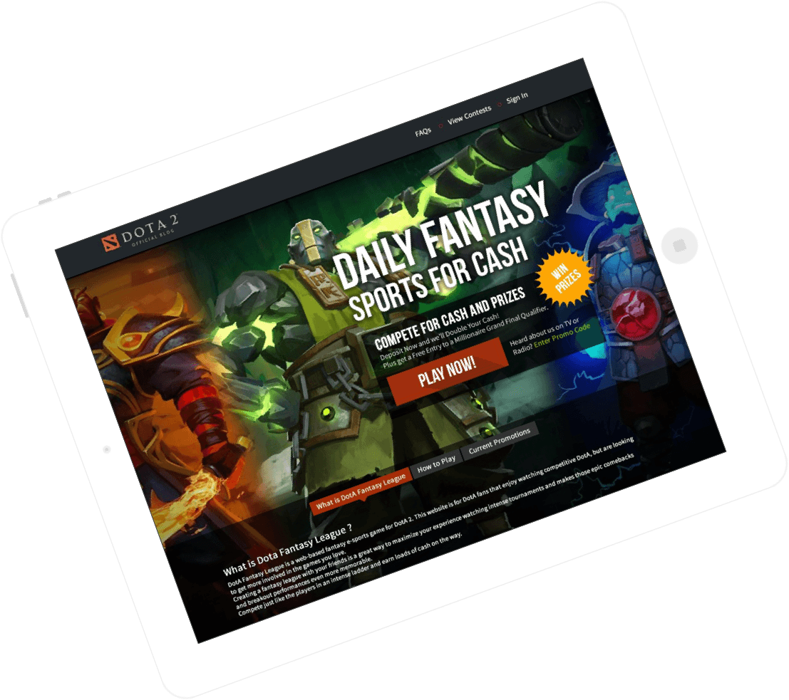 fantasy eSports website & app development by Vinfotech