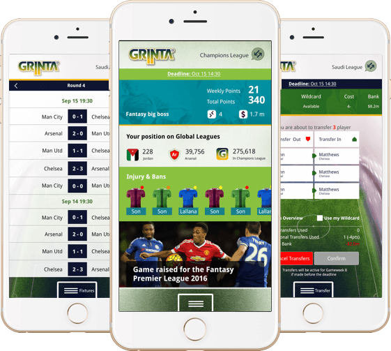Season-long fantasy football website & mobile app for Middle East football fans by Vinfotech