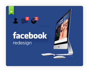 Suggested Redesign of Facebook on Behance by Vinfotech