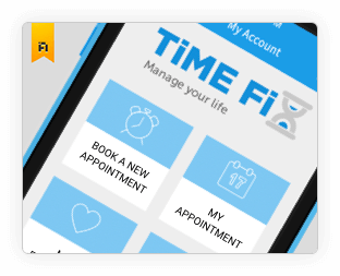 Suggested Redesign of Timefix on Behance by Vinfotech